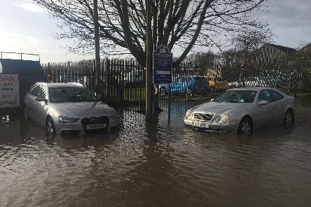 Flooding in Walton-le-Dale at the weekend