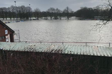 The damage done by Storm Ciara at Garstang Sports and Social Club''Picture: Garstang FC
