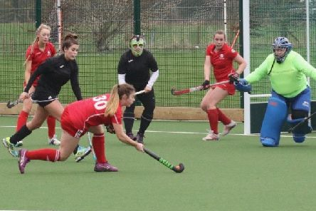 Garstang's Robyn Briggs about to take a shot