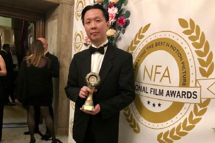Redcon-1 director Chee Cheung with the National Film Award