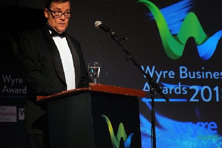 Garry Payne at the Wyre Business Awards 2018