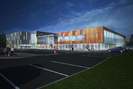 Artist impression of the new Halifax leisure centre and swimming pool complex