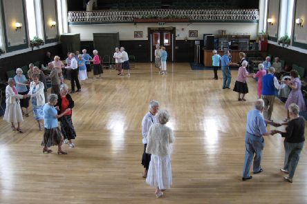 The ballroom in Todmorden Town Hall