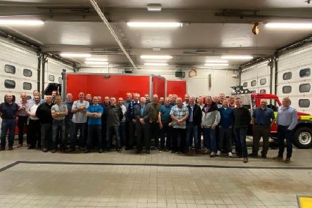 Past and present employees of Todmorden Station were invited to the fire station
