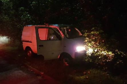 The dumped van that was stolen from Halifax (Picture West Yorkshire Police RPU)