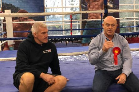 Head coach of Halifax Boxing Sports and Fitness Club, Michael Rowe chats to TV star Ross Kemp