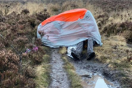 The Calder Valley Search & Rescue Team upon arrival provided warmth to the woman found on Bingley Moor
