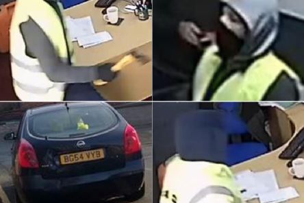 Police are appealing to anyone who recognises the men from this CCTV footage or the car. Photos provided by West Yorkshire Police.