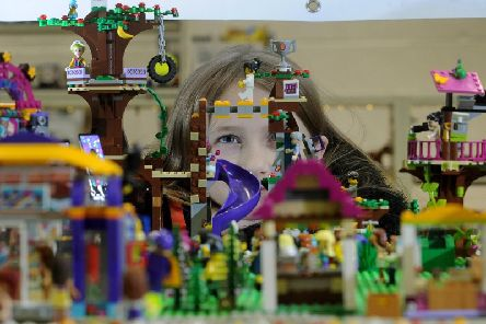 Kendra Theaker-Gregerson aged 10 with her Lego Display.