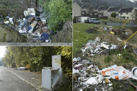 Examples of fly tipping in Calderdale