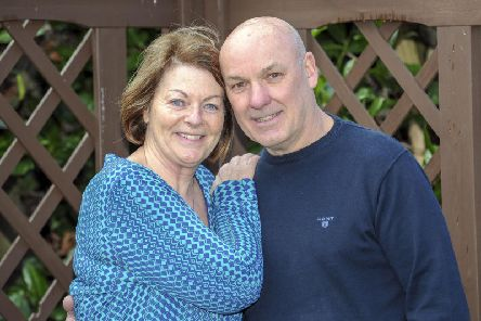 Patricia Barnes and Andrew Brooke who are marrying in Halifax on Valentine's Day.