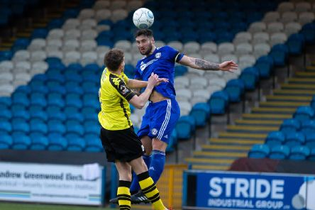 Matty Brown, FC Halifax Town v Harrogate Town at the Shay, Halifax