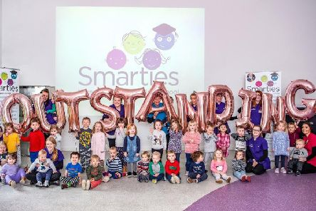 Smarties Nursery in Rastrick has been rated outstanding by Ofsted