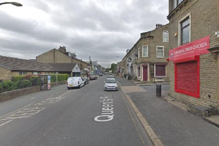 Queen's Road in Halifax where the collision happened earlier today. Picture: Google.
