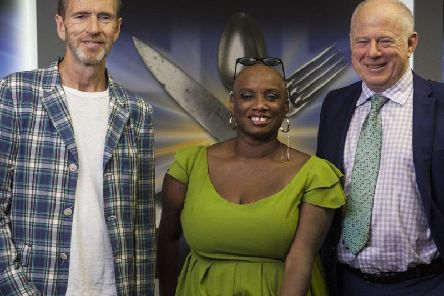 The Great British Menu judges: Oliver Peyton, Andi Oliver and Matthew Fort