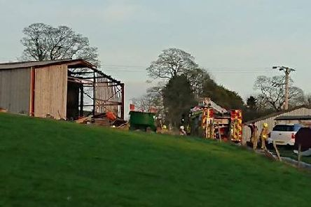Fire crews tackled the blaze on Old Lane on Wednesday