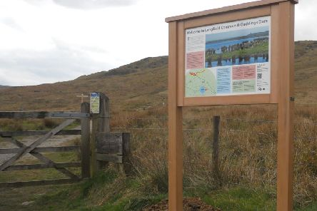 A new information board at the beauty spot