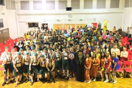 North Halifax Grammar School's year 13 leavers.