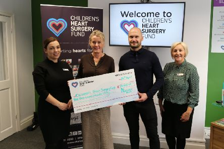 Sara Dawson-Jones (Fundraising Assistant), Sharon Coyle (CHSF CEO)< Stephen Olexy from An Experience With, and Lisa Williams (Community Fundraiser)