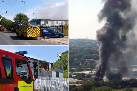 The fire that took place at the Brighouse industrial unit