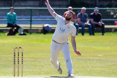 Joe Gale had a fine match for Walsden yesterday