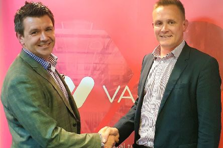 Collaboration: Vapour Cloud's CEO Tim Mercer and Millgate's group head of sales Steve Dono.