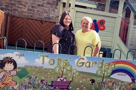 Management buyout: Becky Thompson and Andrea Dyson at the nursery at Dean Clough.