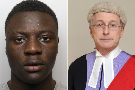 Michael Thompson, who was found guilty of murder, left and  Judge Geoffrey Marson QC