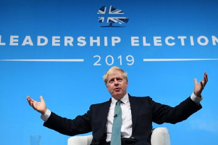 Boris Johnson speaks at the Tory leadership hustings in York earlier this month
