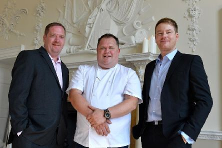 The new team at Alibi: Assistant Manager Jamie Hawkes, Head Chef Damian Collinson and General Manager Andy Pritchard