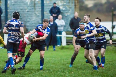 Halifax rugby Union club players in action