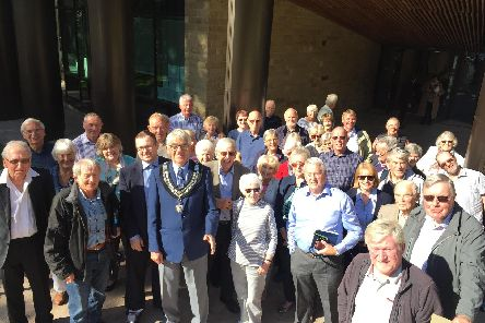 A busload of Wetherby objectors celebrate Harrogate Borough Council's decision. Picture: Lachlan Leeming
