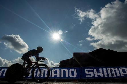 Action from the junior women's time-trial at Yorkshire 2019.