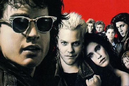 Harrogate screening - The poster for classic horror movie The Lost Boys (1987) starring Kiefer Sutherland, Corey Haim and Jason Patric.