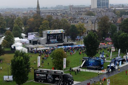 Clean-up work at the devastated Stray in Harrogate has been hit by a delay in the handing back of the West Park site after the UCI cycling championships.