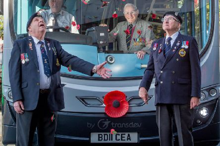 The Harrogate Bus Companys parent Transdev is adorning 200 of its buses across the North with large poppies to support the Royal British Legions Poppy Appeal, as the nation prepares to remember the fallen
