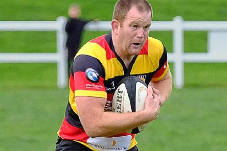 Tim Heaton was in fine form as Harrogate RUFC cruised to victory when they entertained Alnwick. Picture: Richard Bown