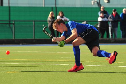Alfie Weaver opened the scoring as Harrogate Mens 1s thrashed local rivals City of York. Picture: Gerard Binks