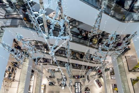 Shopper's paradise: Inside John Lewis at Victoria Gate shopping centre, which opened in Leeds in October. Picture James Hardisty.