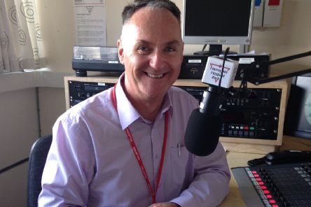 Harrogate Hospital Radio chairman, Mark Oldfield (s).