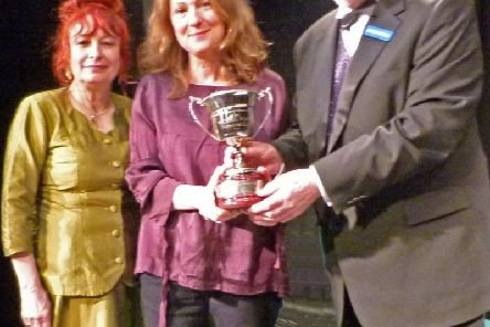 Alison Gilmour receives a best performance prize