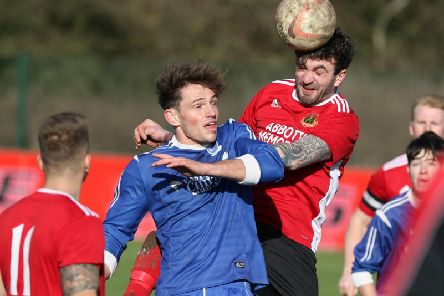 Knaresborough Town were beaten 2-1 by relegation-threatened Hall Road Rangers. Picture: Craig Dinsdale