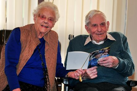 Still madly in love: Peter and Joyce Dawson. Picture: Gerard Binks.