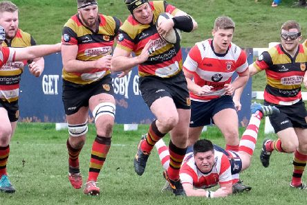 Andy Boyde and his Harrogate RUFC team-mates entertain Hull this weekend. Picture: Richard Bown