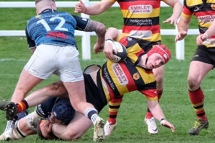 Harrogate RUFC stunned champions Hull RUFC at the Stratstone Stadium on Saturday. Picture: Richard Bown
