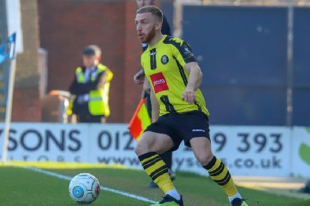 Harrogate Town's George Thomson. Picture: Matt Kirkham