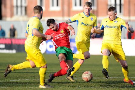 Harrogate Railway must win at Staveley Miners Welfare on Saturday if they are to have any chance of avoiding relegation. Picture: Gerard Binks