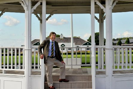 Charles Mills, honorary show director of the Great Yorkshire Show, pictured at the bandstand on Yorkshire Agricultural Society's showground in Harrogate. Picture by Gary Longbottom.