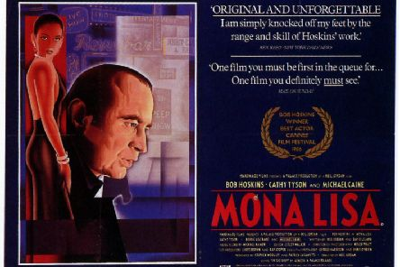 The film poster for classic British film Mona Lisa with Cathy Tyson, who became a star overnight in 1986.