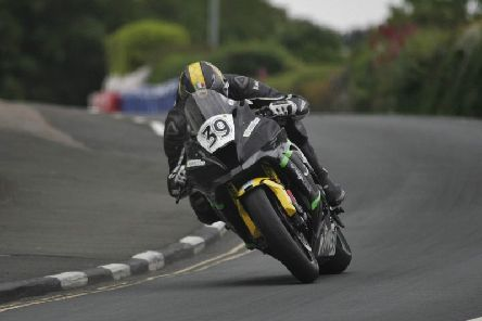 Joe Akroyd in action at the 2019 Isle of Man TT. Picture: Ean Proctor